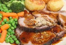 Roast Pork Dinner Royalty Free Stock Photos