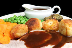 Roast Pork Dinner royalty free stock photo