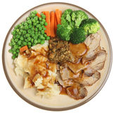 Roast Pork Dinner Royalty Free Stock Image