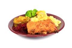 Roast pork dinner Stock Images