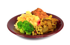 Roast pork dinner Stock Photos