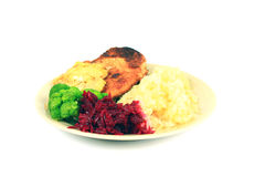 Roast pork dinner Royalty Free Stock Photo