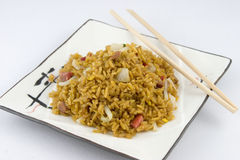 Roast Pork Fried Rice Royalty Free Stock Images