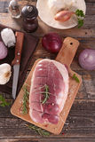 Roast pork and ingredients Royalty Free Stock Photo