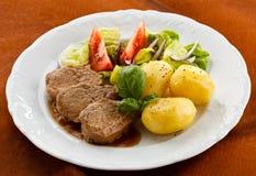 Roast pork loin stock photography
