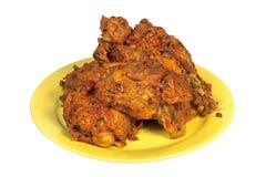 Roast pork loin. Isolated on white background Stock Image