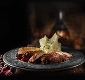 Roast Pork Meal Stock Images