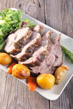Roast pork neck Stock Images