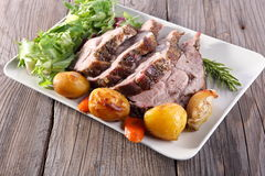Roast pork neck royalty free stock image