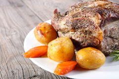 Roast pork neck Royalty Free Stock Photos