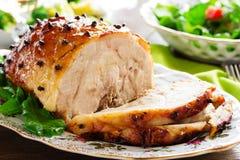 Roast pork with orange glaze, Stock Images