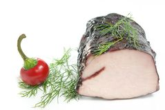 Roast pork with pepper Royalty Free Stock Photos