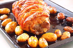 Roast pork A Stock Photo