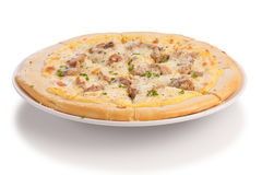Roast pork pizza Royalty Free Stock Image