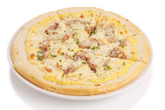 Roast pork pizza Stock Image