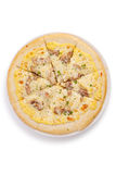 Roast pork pizza Stock Images