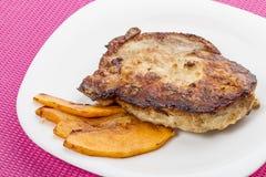 Roast pork with pumpkin Stock Photography