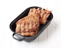 Roast pork ribs Royalty Free Stock Images