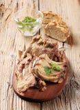Roast pork ribs Royalty Free Stock Photos