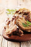 Roast pork ribs Stock Photo