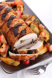 Roast pork with sage and thyme Stock Photography
