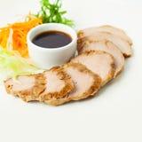 Roast Pork with Sauce. Restaurant Food Royalty Free Stock Image