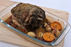 roast pork and some spice, ready to eat Royalty Free Stock Photos