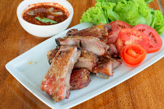 Roast pork spareribs Stock Photos