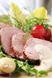 Roast pork tenderloin stock photo