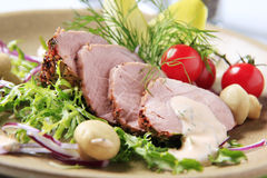Roast pork tenderloin Royalty Free Stock Photos