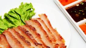 Roast pork. Thai style food Stock Images