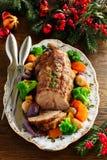 Roast pork with vegetables Stock Photos
