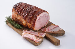 Roast pork on wooden board Stock Photography