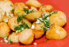 Roast potato Stock Images
