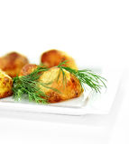 Roast Potatoes with Dill Royalty Free Stock Images