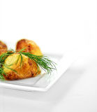 Roast Potatoes with Dill II Royalty Free Stock Photography