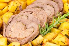 Roast and potatoes Stock Image