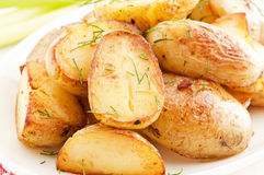 Roast Potatos Royalty Free Stock Photography