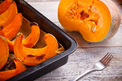 Roast pumpkin Stock Image
