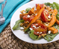 Roast Pumpkin Salad Royalty Free Stock Image
