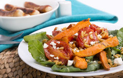 Roast Pumpkin Salad Royalty Free Stock Photos