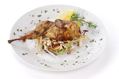 Roast quail Stock Photo