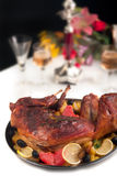 Roast rabbit Stock Photography