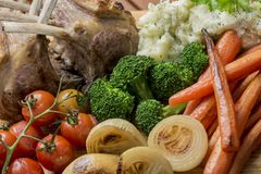 Roast Rack of Lamb Stock Images
