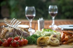 Roast Rack of Lamb Royalty Free Stock Photos
