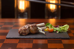 Roast rack of lamb Royalty Free Stock Images