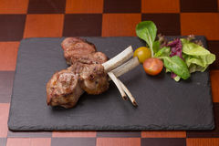 Roast rack of lamb Stock Photography