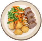Roast Rack of Lamb Dinner Royalty Free Stock Photo