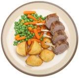 Roast Rack of Lamb Dinner Royalty Free Stock Photo
