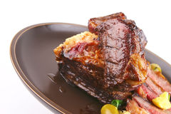Roast rib's close up Royalty Free Stock Images
